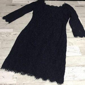 diane von furstenberg zarita lace dress sz 2
